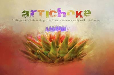 Artichoke Mixed Media - Artichoke by Terry Davis