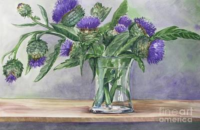 Painting - Artichokes by Jane Loveall