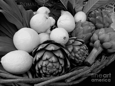 Photograph - Artichokes With White Lemons And Oranges by James B Toy
