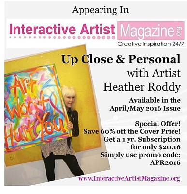 Painting - Article In Mag  by Heather Roddy