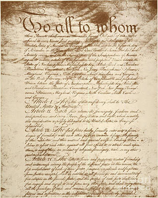 Photograph - Articles Of Confederation by Granger