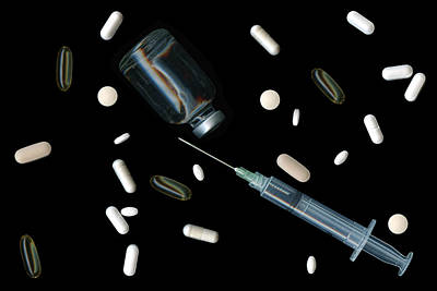 Medicines Photograph - Artificial Life by Tom Mc Nemar