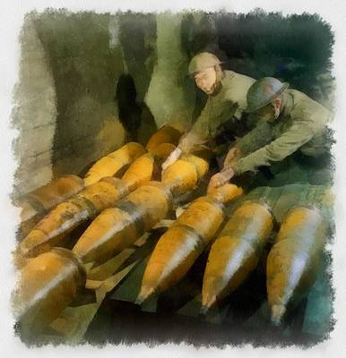 Artillery Painting - Artillery Men Wwii by Esoterica Art Agency