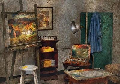 Artist - Painter - The Artists Studio Art Print by Mike Savad