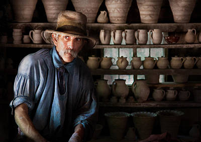 Potters Clay Photograph - Artist - Potter - The Potter II by Mike Savad