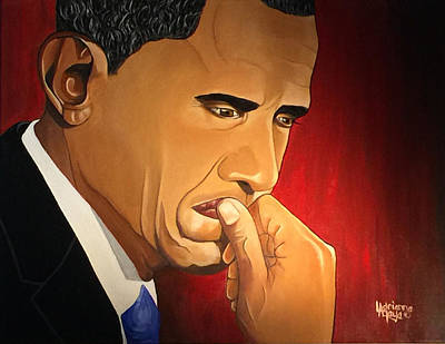 Barrack Obama Painting - Artist by Adrienne La Faye