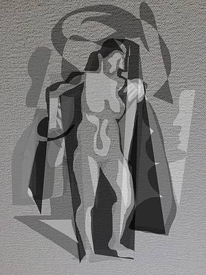 Digital Art - Artist And Model by Clyde Semler