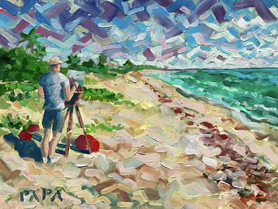 Painting - Artist At Ocean Ridge by Ralph Papa