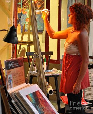 Photograph - Artist At Work by Rose  Hill