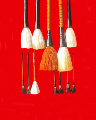 Photograph - Artist Brushes by Dennis Cox WorldViews