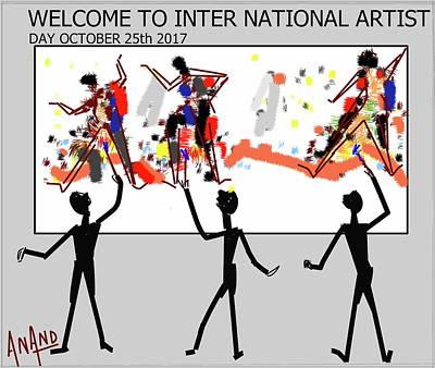 Digital Art - Artist Day Celebrations by Anand Swaroop Manchiraju