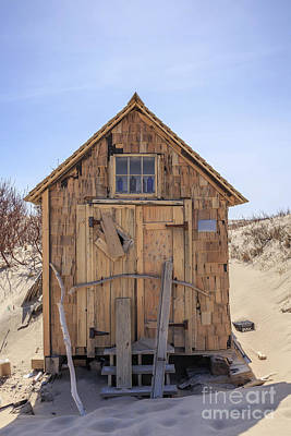 Tiny House Wall Art - Photograph - Artist Dune Shack Cape Cod by Edward Fielding