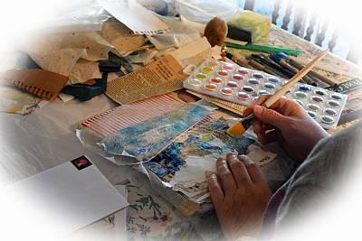 Artist Hands At Work Art Print