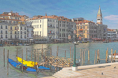 Artist Impression Of Venice Art Print by Johan Elzenga