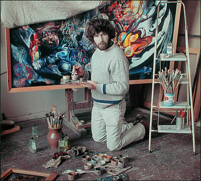 Photograph - Artist In His Studio by Vladimir Kholostykh