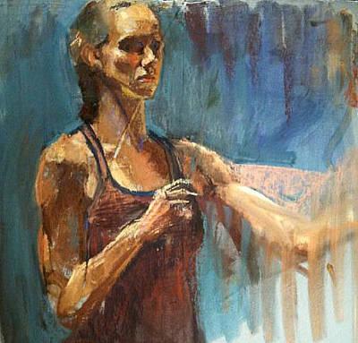 Self-portrait Mixed Media - Artist by Karen Bradley