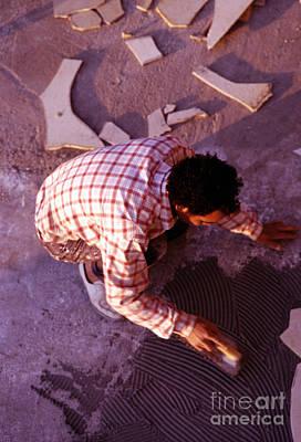 Artist Working Photograph - Artist by Neon Flash