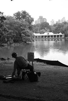 Photograph - Artist Painting In Central Park by Christopher Kirby