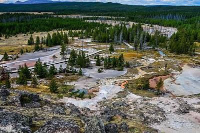 Photograph - Artist Paintpots In Yellowstone by Marilyn Burton