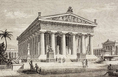 Impression Drawing - Artist S Impression Of The Temple Of by Vintage Design Pics