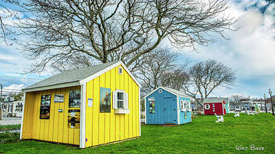 Photograph - Artist Shacks Of Hyannis by Walt Baker