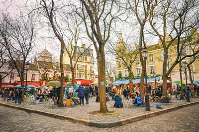 Artist Square, Montmartre Paris Art Print by Lynn Langmade
