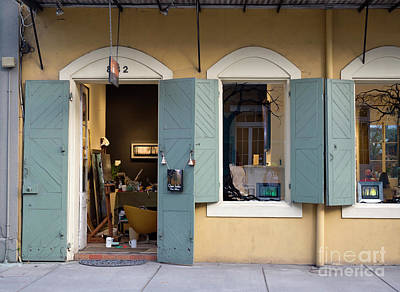 Storefront Artist Photograph - Artist Studio And Shop In The French Quarter Of New Orleans by Louise Heusinkveld