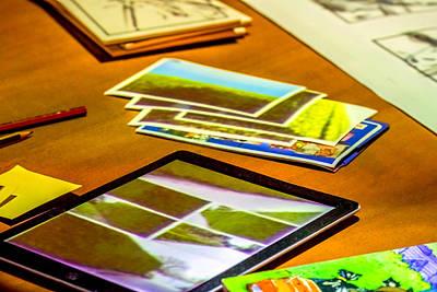 Artist Working Photograph - Artist Workspace by Jijo George