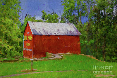 Digital Art - Artistic Barn by Rick Bragan