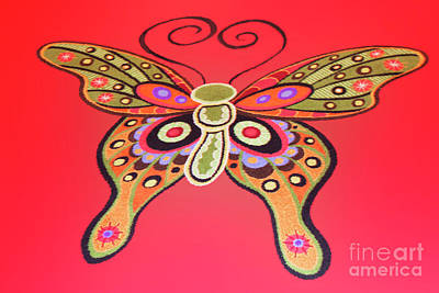 Artistic Butterfly Original by Linda Phelps
