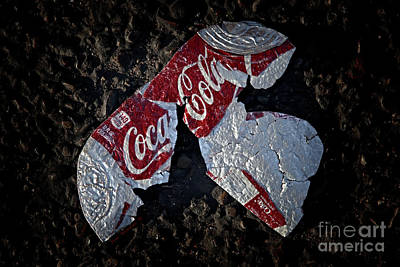 Photograph - Artistic Coca-cola Litter by John Stephens