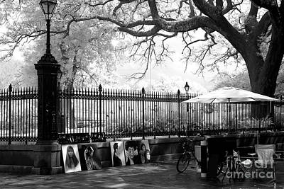 Photograph - Artistic Day At Jackson Square Infrared by John Rizzuto