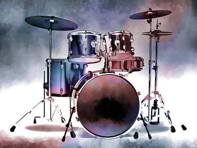 Photograph - Artistic Drum Set by Athena Mckinzie
