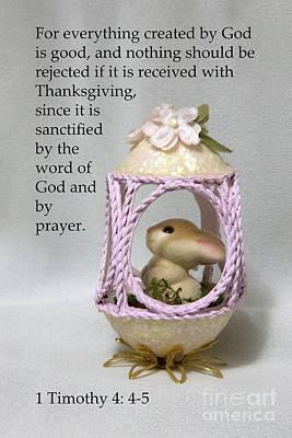 Artistic Egg With Scripture Original