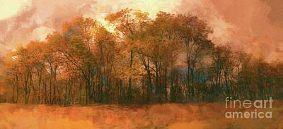 Photograph - Artistic Fall Colors In The Blue Ridge Fx by Dan Carmichael