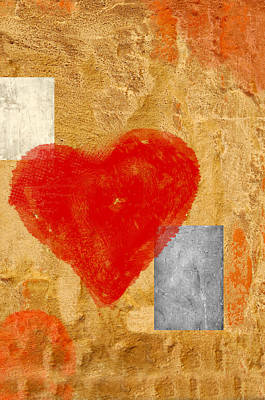 Day Care Mixed Media - Artistic Heart by Anki Hoglund