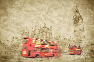 National Photograph - Artistic Image Of London by Michal Bednarek