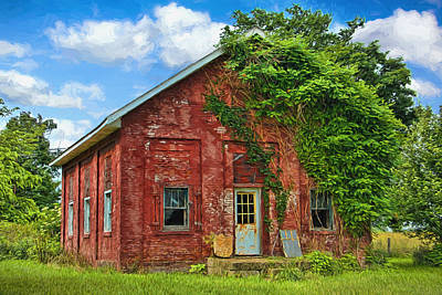 Artistic Old Abandoned Schoolhouse Art Print