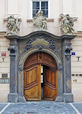Artistic Ornate Door In Prague Art Print