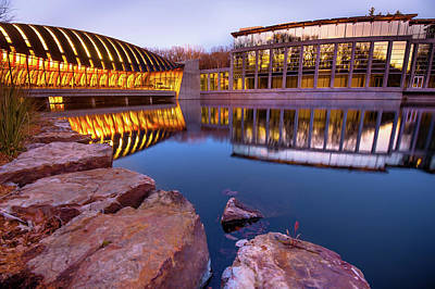 Photograph - Artistic Reflection - Crystal Bridges Museum - Bentonville Arkansas by Gregory Ballos