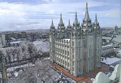 Artistic Rendering Of The Salt Lake City Lds Temple Original