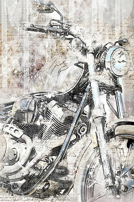 Mechanical Mixed Media - Artistic Ride by Melissa Smith