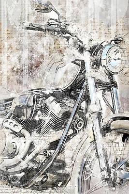 Headlight Mixed Media - Artistic Ride by Melissa Smith