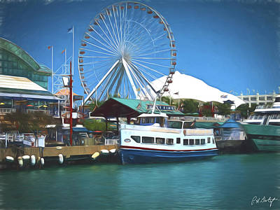 Artistic View Of Navy Pier Original by Phill Doherty