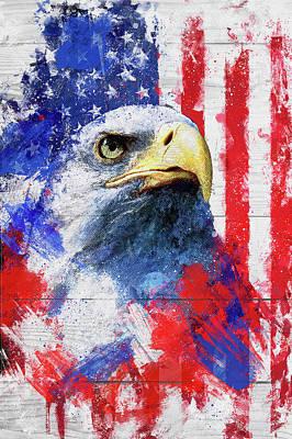 4th July Digital Art - Artistic Xliii - American Pride by TMarchev