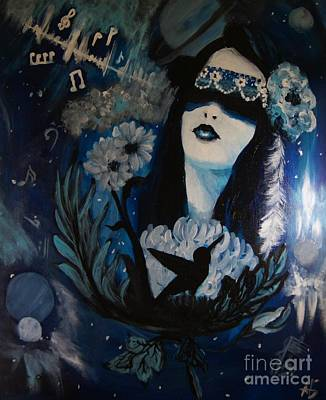 Prussian Blue Painting - Artists Bount  by Sandra Gallegos