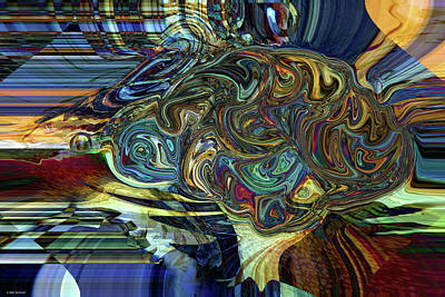 Digital Art - Artist's Brain by Linda Sannuti