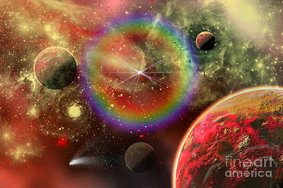 Artists Concept Illustrating The Cosmic Art Print by Mark Stevenson