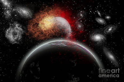 Artists Concept Of Cosmic Contrast Art Print
