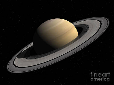 Rendition Digital Art - Artists Concept Of Saturn by Walter Myers